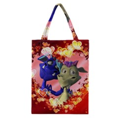 Ove Hearts Cute Valentine Dragon Classic Tote Bag