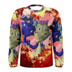 Ove Hearts Cute Valentine Dragon Men s Long Sleeve Tee