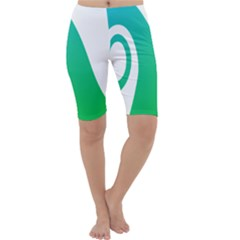 Line Green Wave Cropped Leggings