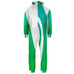 Line Green Wave Hooded Jumpsuit (Men)
