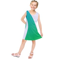 Line Green Wave Kids  Tunic Dress