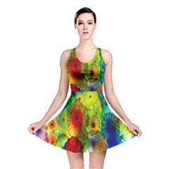 Green Jellyfish Yellow Pink Red Blue Rainbow Sea Reversible Skater Dress