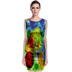 Green Jellyfish Yellow Pink Red Blue Rainbow Sea Classic Sleeveless Midi Dress