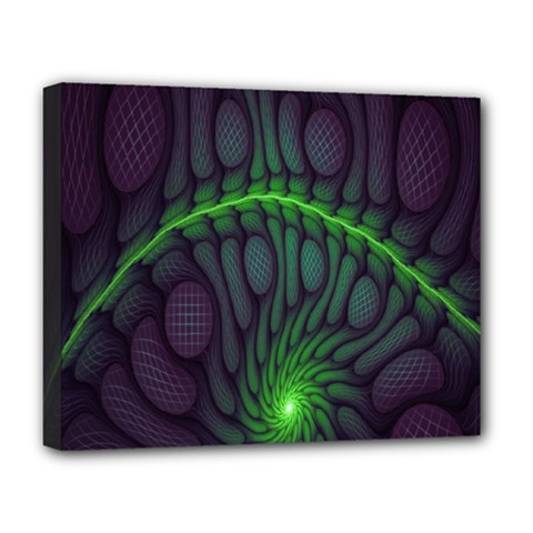 Light Cells Colorful Space Greeen Deluxe Canvas 20  x 16