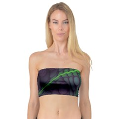 Light Cells Colorful Space Greeen Bandeau Top