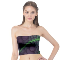 Light Cells Colorful Space Greeen Tube Top