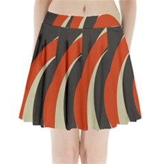 Mixing Gray Orange Circles Pleated Mini Skirt