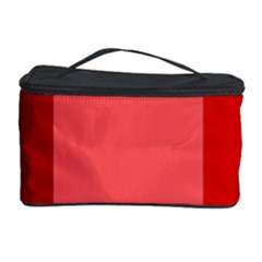 Red Flag Plaid Cosmetic Storage Case