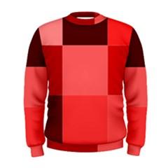 Red Flag Plaid Men s Sweatshirt