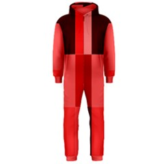Red Flag Plaid Hooded Jumpsuit (Men)