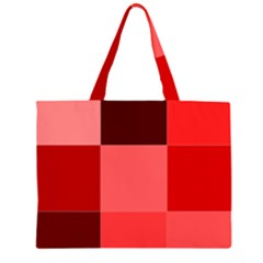 Red Flag Plaid Large Tote Bag