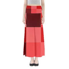 Red Flag Plaid Maxi Skirts