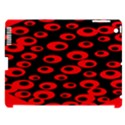 Scatter Shapes Large Circle Black Red Plaid Triangle Apple iPad 3/4 Hardshell Case (Compatible with Smart Cover) View1
