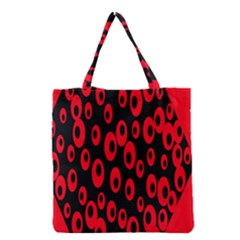 Scatter Shapes Large Circle Black Red Plaid Triangle Grocery Tote Bag