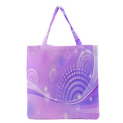 Purple Circle Line Light Grocery Tote Bag