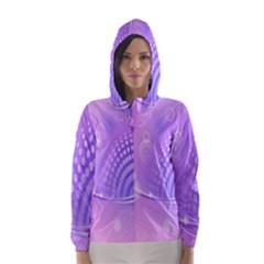 Purple Circle Line Light Hooded Wind Breaker (Women)