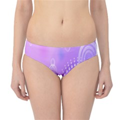 Purple Circle Line Light Hipster Bikini Bottoms