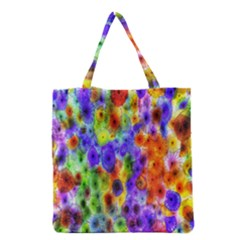 Green Jellyfish Yellow Pink Red Blue Rainbow Sea Purple Grocery Tote Bag