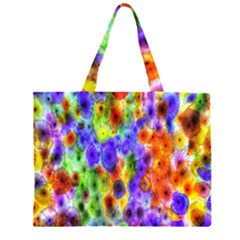 Green Jellyfish Yellow Pink Red Blue Rainbow Sea Purple Large Tote Bag