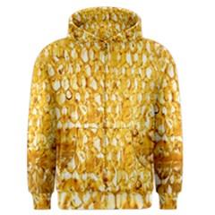 Honeycomb Fine Honey Yellow Sweet Men s Zipper Hoodie