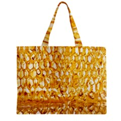 Honeycomb Fine Honey Yellow Sweet Zipper Mini Tote Bag
