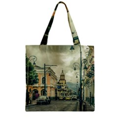 Historic Center Urban Scene At Riobamba City, Ecuador Zipper Grocery Tote Bag