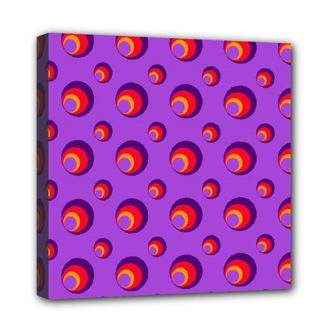 Scatter Shapes Large Circle Red Orange Yellow Circles Bright Mini Canvas 8  x 8