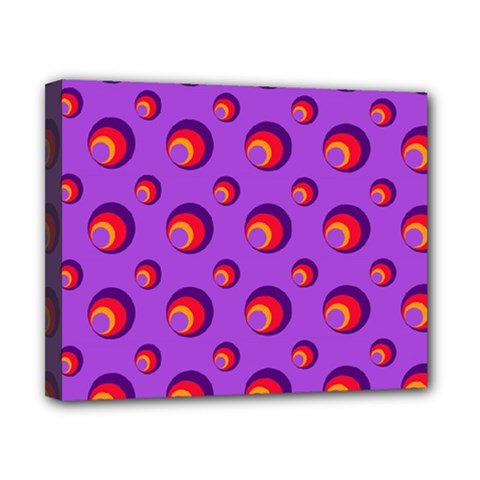 Scatter Shapes Large Circle Red Orange Yellow Circles Bright Canvas 10  x 8