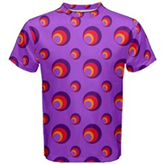 Scatter Shapes Large Circle Red Orange Yellow Circles Bright Men s Cotton Tee