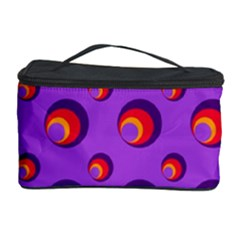 Scatter Shapes Large Circle Red Orange Yellow Circles Bright Cosmetic Storage Case
