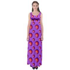 Scatter Shapes Large Circle Red Orange Yellow Circles Bright Empire Waist Maxi Dress
