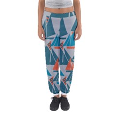 Ship Sea Blue Women s Jogger Sweatpants
