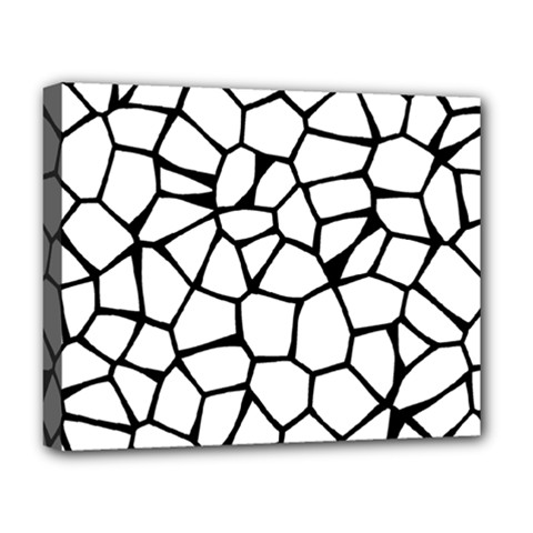 Seamless Cobblestone Texture Specular Opengameart Black White Deluxe Canvas 20  x 16