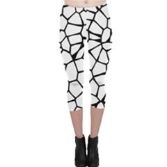 Seamless Cobblestone Texture Specular Opengameart Black White Capri Leggings