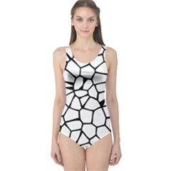 Seamless Cobblestone Texture Specular Opengameart Black White One Piece Swimsuit