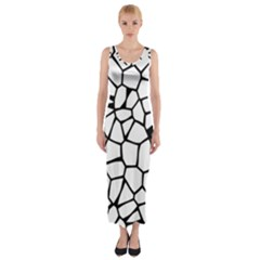 Seamless Cobblestone Texture Specular Opengameart Black White Fitted Maxi Dress