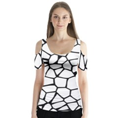 Seamless Cobblestone Texture Specular Opengameart Black White Butterfly Sleeve Cutout Tee