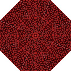 Tile Circles Large Red Stone Straight Umbrellas