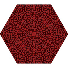 Tile Circles Large Red Stone Mini Folding Umbrellas