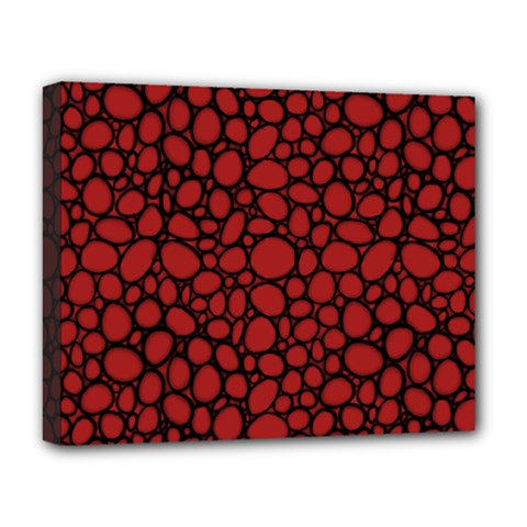 Tile Circles Large Red Stone Deluxe Canvas 20  x 16
