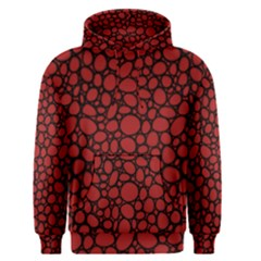 Tile Circles Large Red Stone Men s Pullover Hoodie