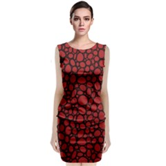 Tile Circles Large Red Stone Classic Sleeveless Midi Dress