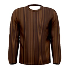 Texture Seamless Wood Brown Men s Long Sleeve Tee