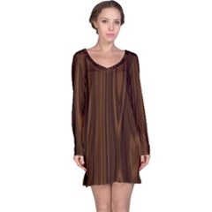 Texture Seamless Wood Brown Long Sleeve Nightdress