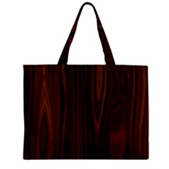 Texture Seamless Wood Brown Zipper Mini Tote Bag