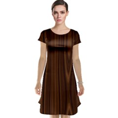 Texture Seamless Wood Brown Cap Sleeve Nightdress