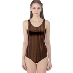 Texture Seamless Wood Brown One Piece Swimsuit