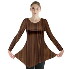 Texture Seamless Wood Brown Long Sleeve Tunic