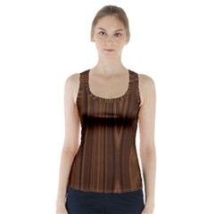 Texture Seamless Wood Brown Racer Back Sports Top