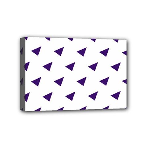 Triangle Purple Blue White Mini Canvas 6  x 4